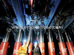 Special hose for hydraulic supports in coal mining